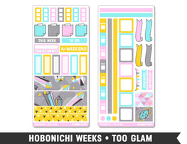 Hobonichi Weeks • Too Glam • Weekly Spread Planner Stickers - Planner Penny