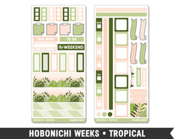 Hobonichi Weeks • Tropical • Weekly Spread Planner Stickers - Planner Penny