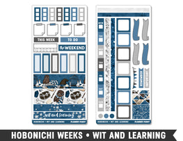 Hobonichi Weeks • Wit and Learning • Weekly Spread Planner Stickers - Planner Penny