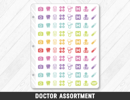 Doctor Assortment Planner Stickers - Planner Penny