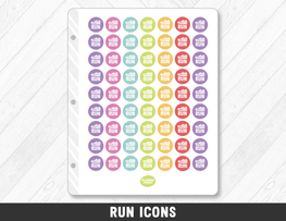Run Icons Planner Stickers - Planner Penny