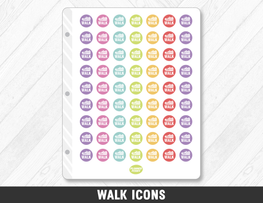 Walk Icons Planner Stickers - Planner Penny