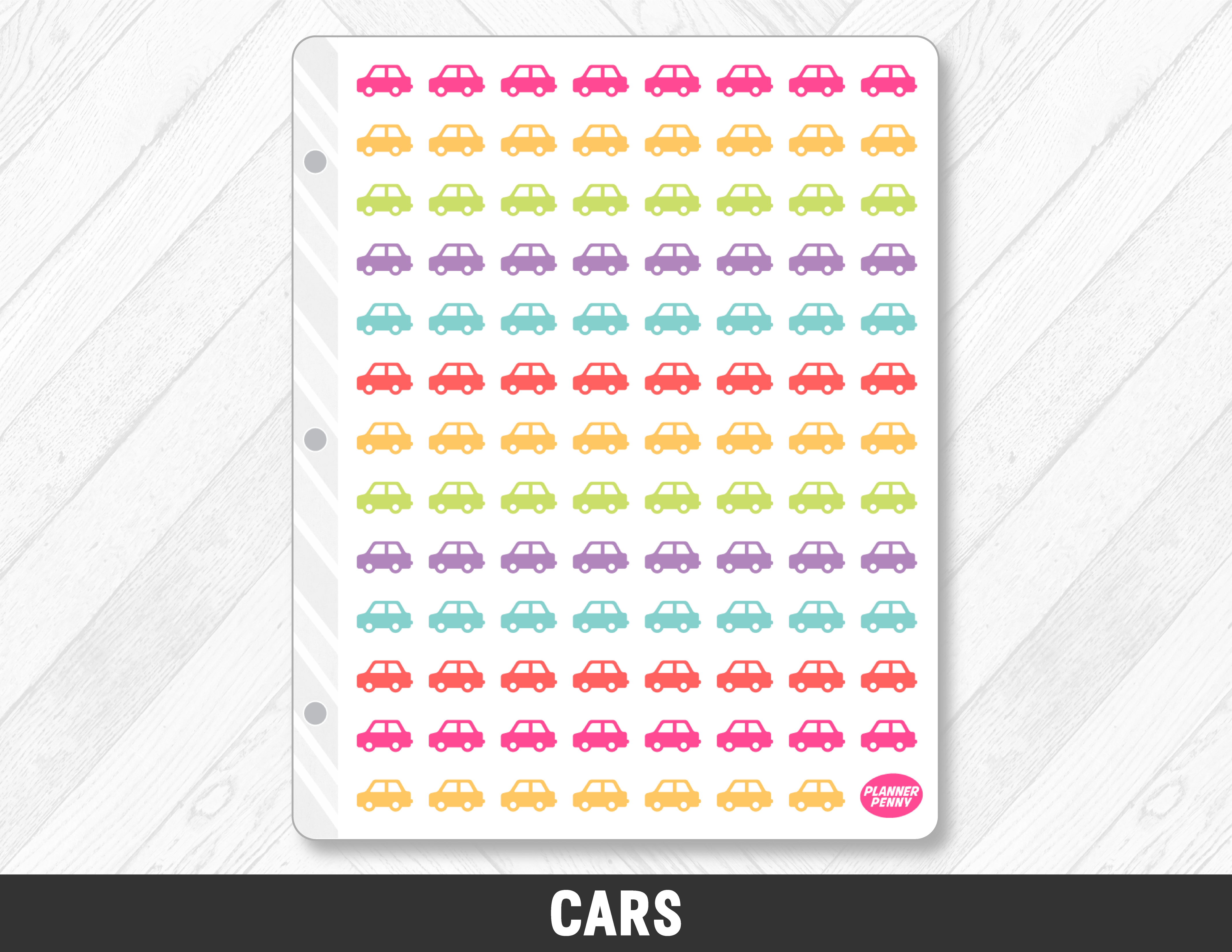Cars Planner Stickers - Planner Penny