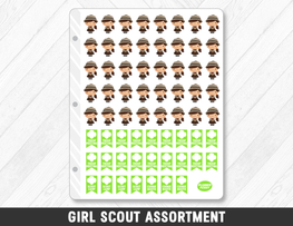 Girl Scout Assortment Planner Stickers - Planner Penny