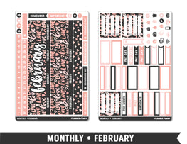 Monthly Collection • February Planner Stickers - Planner Penny