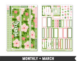 Monthly Collection • March Planner Stickers - Planner Penny