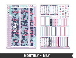 Monthly Collection • May Planner Stickers - Planner Penny