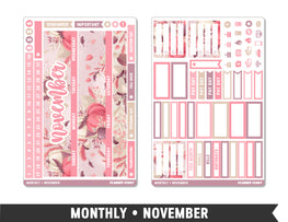 Monthly Collection • November Planner Stickers - Planner Penny