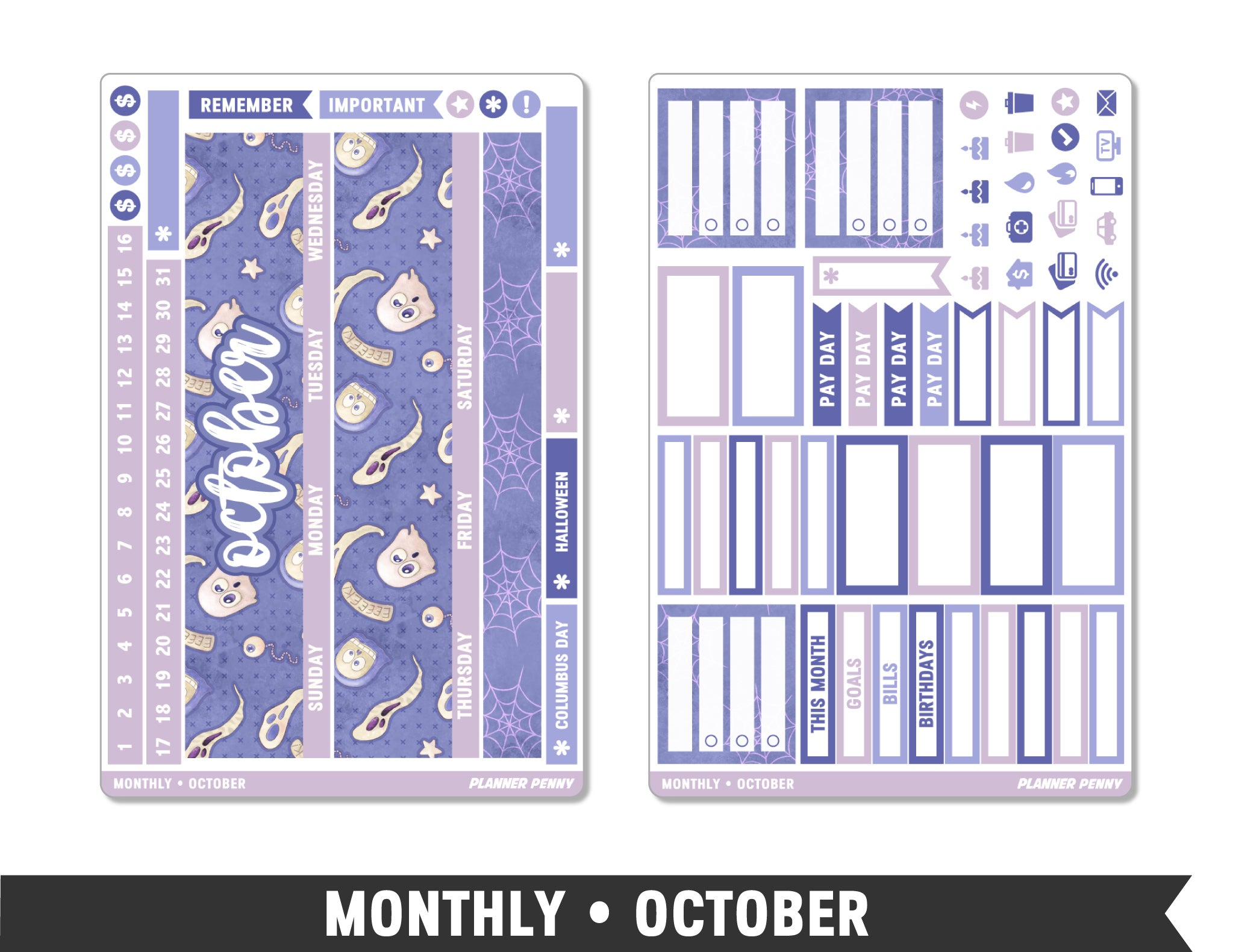 Monthly Collection • October Planner Stickers - Planner Penny