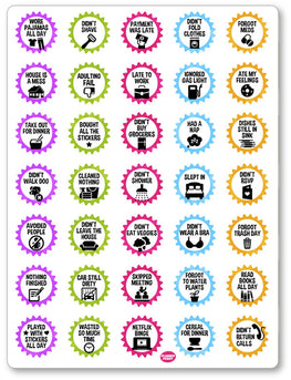 Adulting Fails PDF PRINTABLE Planner Stickers - Planner Penny