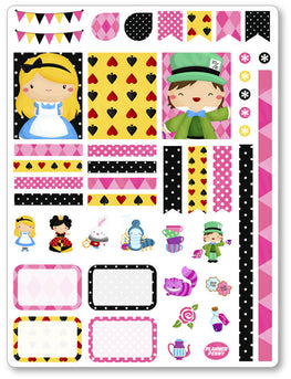 Alice Decorating Kit PDF PRINTABLE Planner Stickers - Planner Penny