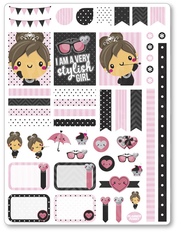 Audrey Decorating Kit PDF PRINTABLE Planner Stickers - Planner Penny