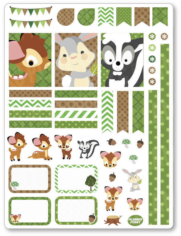 Baby Deer Decorating Kit PDF PRINTABLE Planner Stickers - Planner Penny