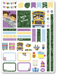 Back To School Decorating Kit PDF PRINTABLE Planner Stickers