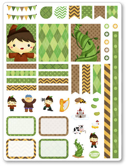 Beanstalk Decorating Kit PDF PRINTABLE Planner Stickers - Planner Penny