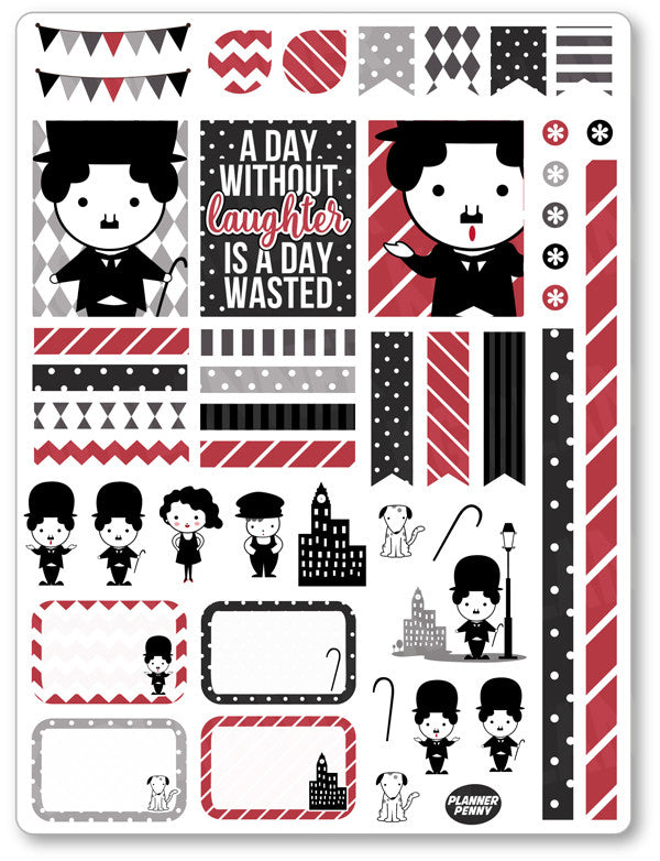 Chaplin Decorating Kit PDF PRINTABLE Planner Stickers - Planner Penny