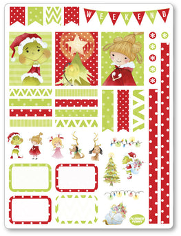 Christmas Grouch Decorating Kit PDF PRINTABLE Planner Stickers - Planner Penny
