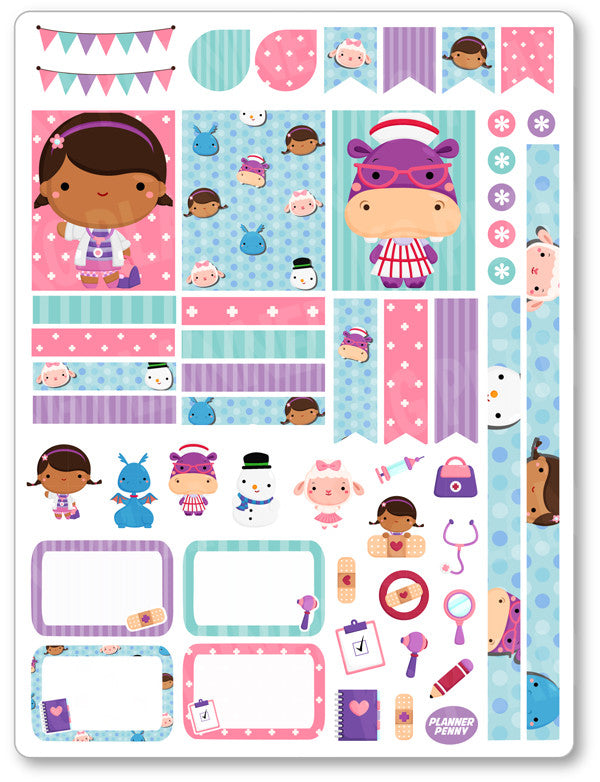Doctor Girl Decorating Kit PDF PRINTABLE Planner Stickers - Planner Penny