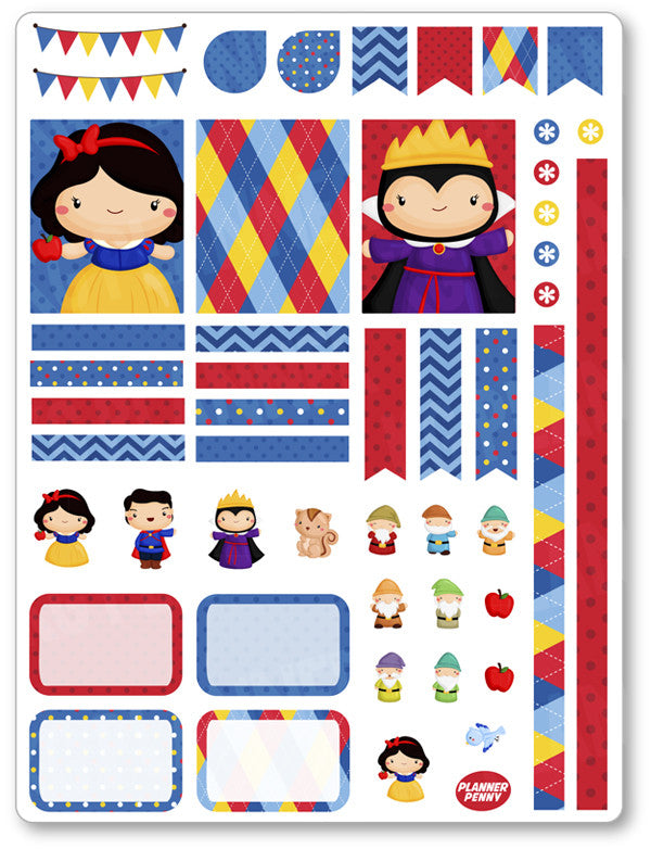 Dwarf Friends Decorating Kit PDF PRINTABLE Planner Stickers - Planner Penny