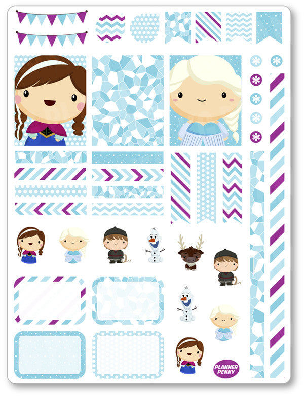 Frozen Friends Decorating Kit PDF PRINTABLE Planner Stickers - Planner Penny