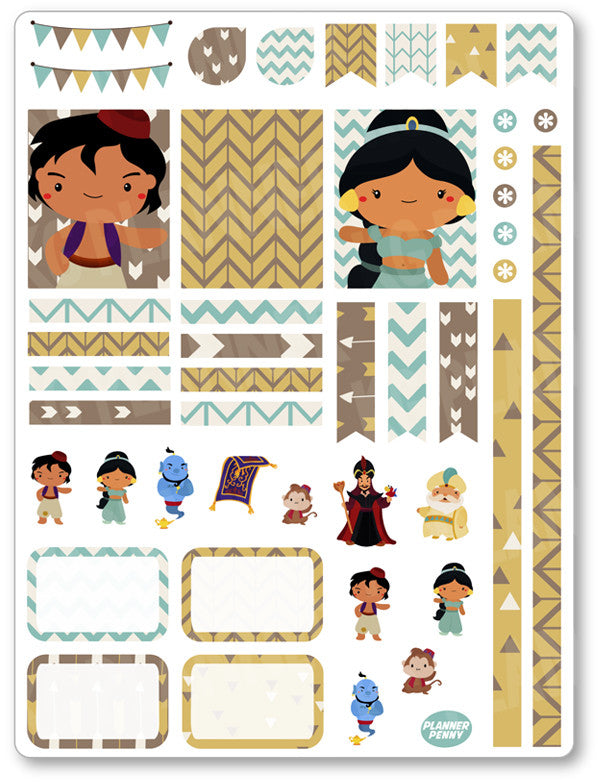 Genie Friends Decorating Kit PDF PRINTABLE Planner Stickers - Planner Penny