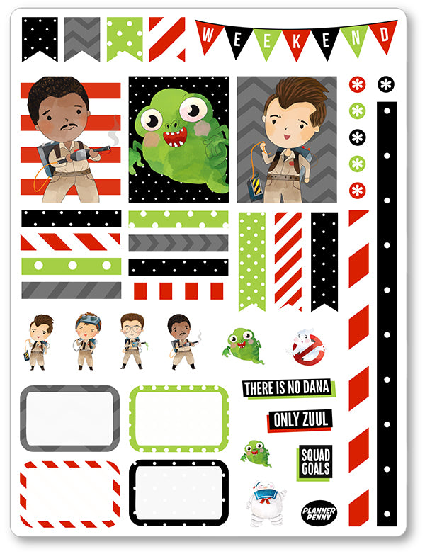 Ghost Fighters Men Decorating Kit PDF PRINTABLE Planner Stickers