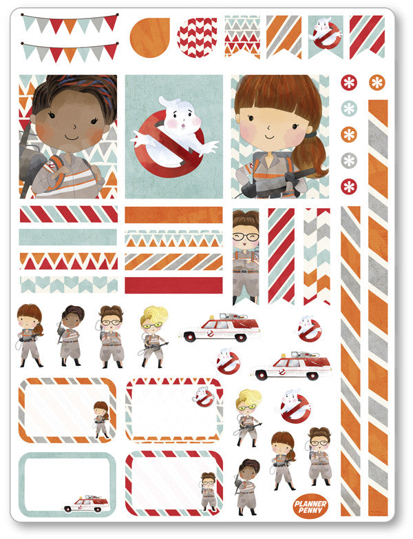 Ghost Fighters Decorating Kit PDF PRINTABLE Planner Stickers - Planner Penny