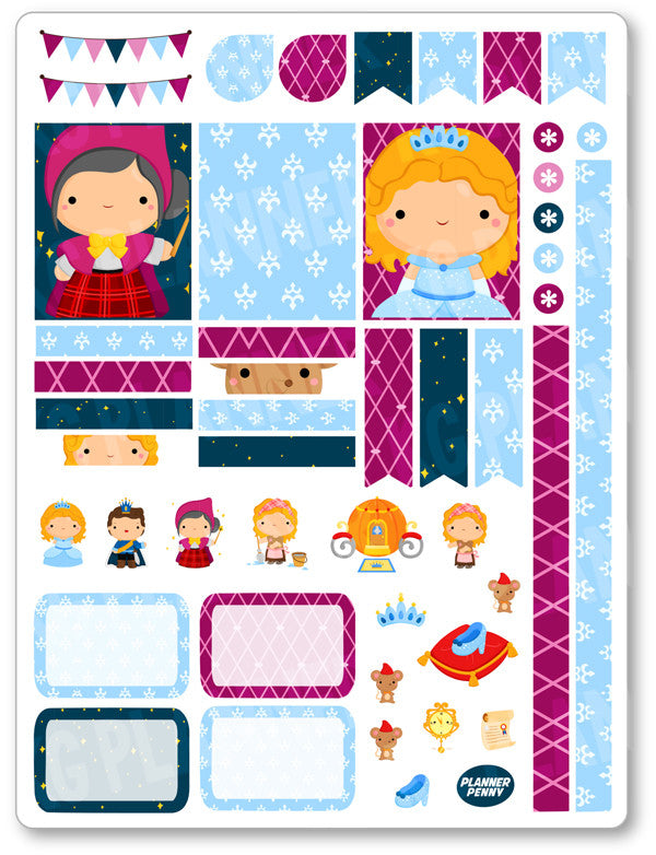 Glass Princess Decorating Kit PDF PRINTABLE Planner Stickers