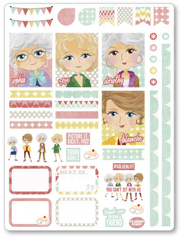 Golden Girls Decorating Kit PDF PRINTABLE Planner Stickers - Planner Penny