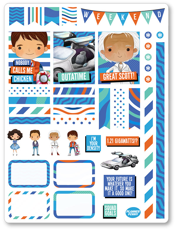 Great Scott Decorating Kit PDF PRINTABLE Planner Stickers - Planner Penny