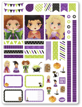 Hocus Pocus Decorating Kit PDF PRINTABLE Planner Stickers - Planner Penny