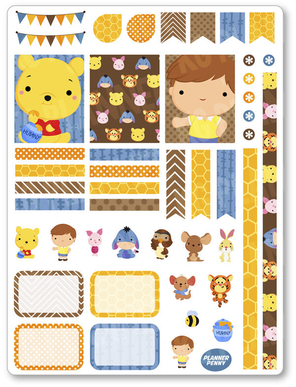 Honey Bear Decorating Kit PDF PRINTABLE Planner Stickers - Planner Penny