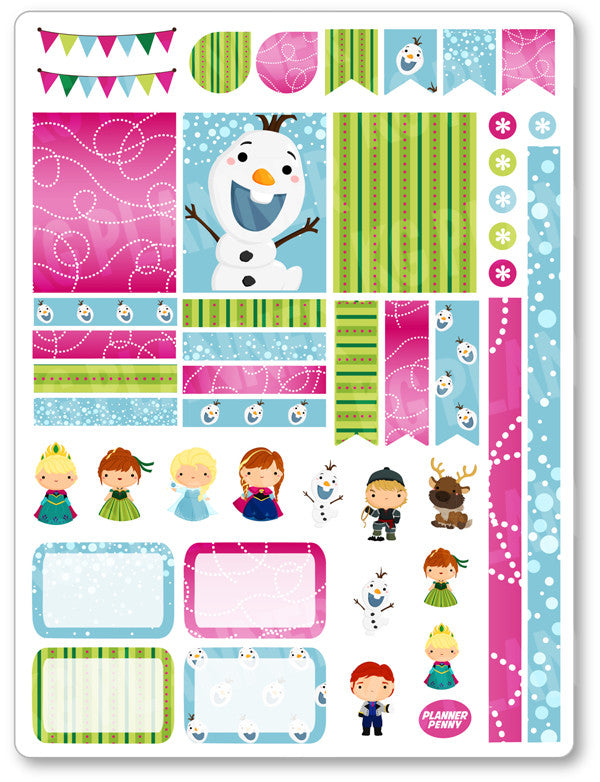 Ice Princess Decorating Kit PDF PRINTABLE Planner Stickers - Planner Penny