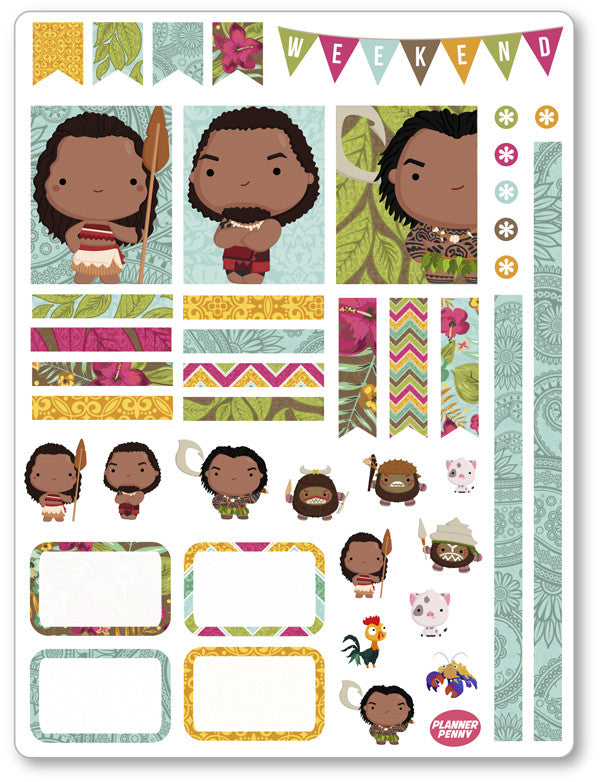 Island Princess Decorating Kit PDF PRINTABLE Planner Stickers