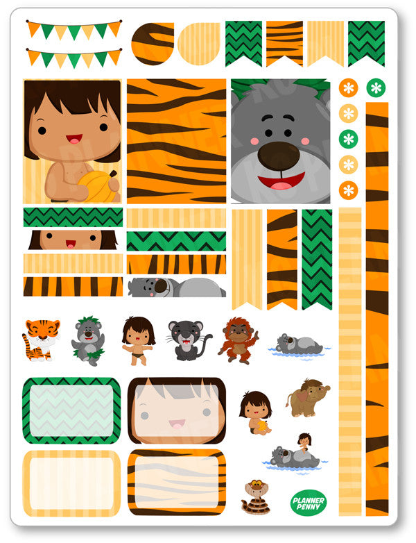 Jungle Friends Decorating Kit PDF PRINTABLE Planner Stickers