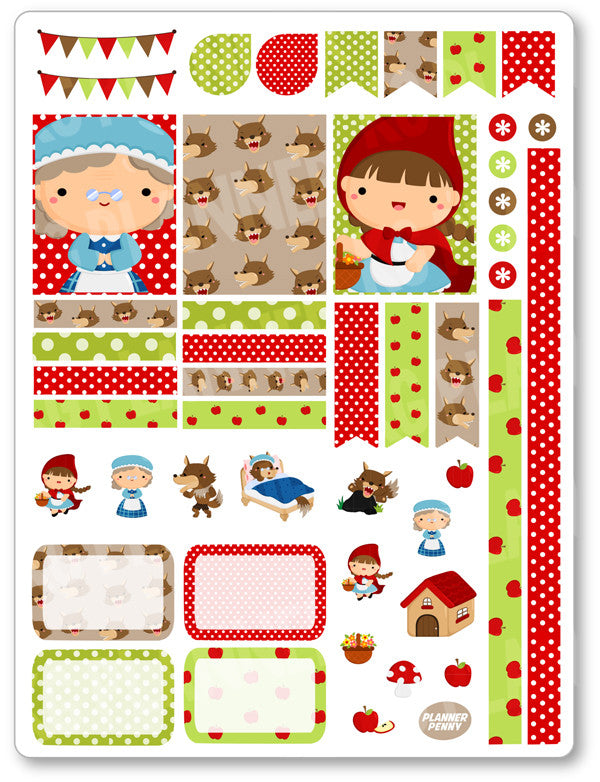 Little Red Decorating Kit PDF PRINTABLE Planner Stickers