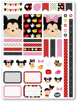 Mouse Friends Decorating Kit PDF PRINTABLE Planner Stickers - Planner Penny