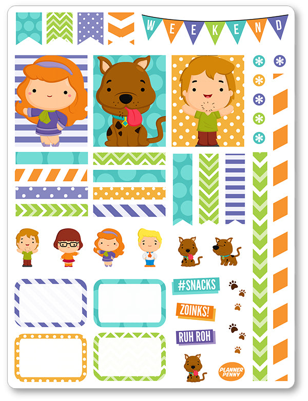 Mystery Crew Decorating Kit PDF PRINTABLE Planner Stickers - Planner Penny