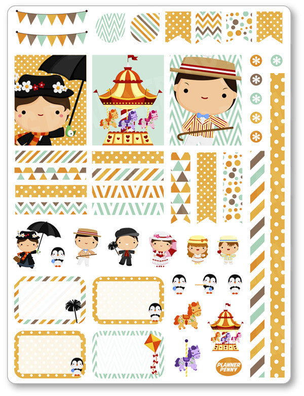Nanny Decorating Kit PDF PRINTABLE Planner Stickers