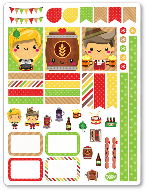 Oktoberfest Decorating Kit PDF PRINTABLE Planner Stickers
