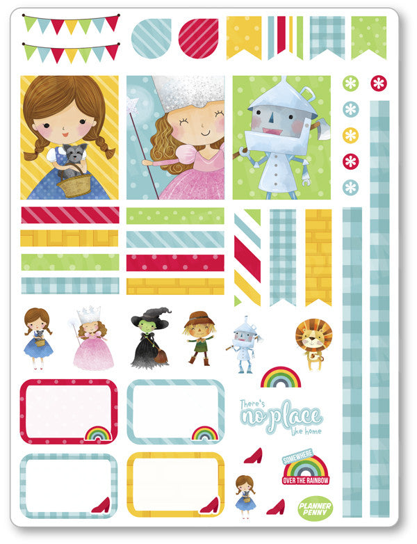 Oz Decorating Kit PDF PRINTABLE Planner Stickers - Planner Penny