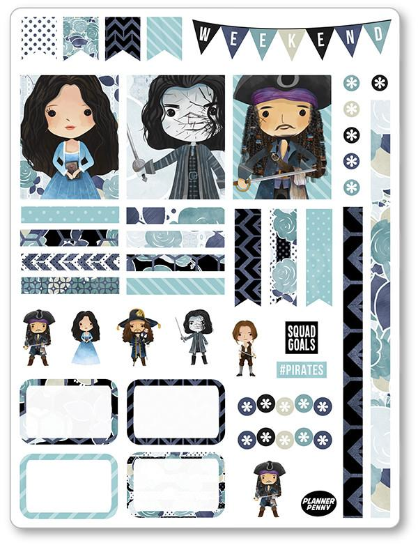 picture regarding Pirates Printable identified as Pirates Decorating Package PDF PRINTABLE Planner Stickers