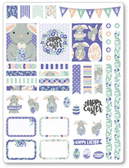 Purple Bunny Decorating Kit PDF PRINTABLE Planner Stickers