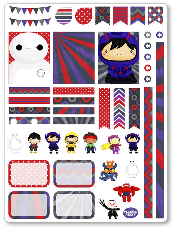 image regarding Robot Printable referred to as Robotic Heroes Decorating Package PDF PRINTABLE Planner Stickers