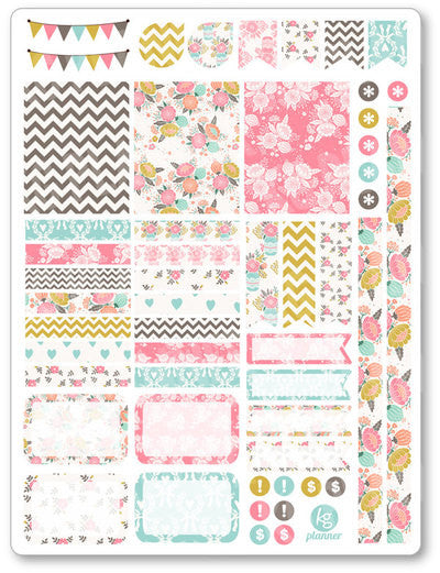 Shabby Chic Decorating Kit PDF PRINTABLE Planner Stickers