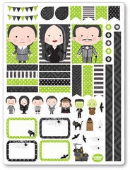 Spooky Family Decorating Kit PDF PRINTABLE Planner Stickers
