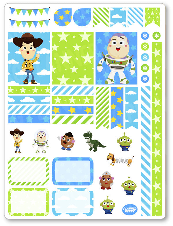 Toys Decorating Kit PDF PRINTABLE Planner Stickers - Planner Penny