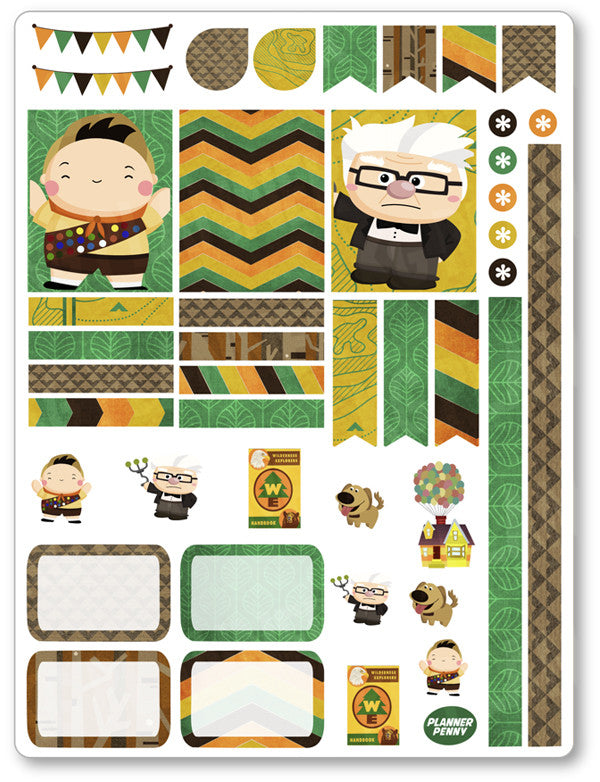 Wilderness Explorer Decorating Kit PDF PRINTABLE Planner Stickers