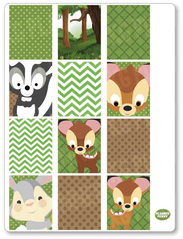 Baby Deer Full Boxes PDF PRINTABLE Planner Stickers - Planner Penny