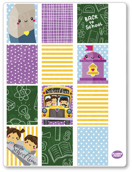 Back To School Full Boxes PDF PRINTABLE Planner Stickers - Planner Penny